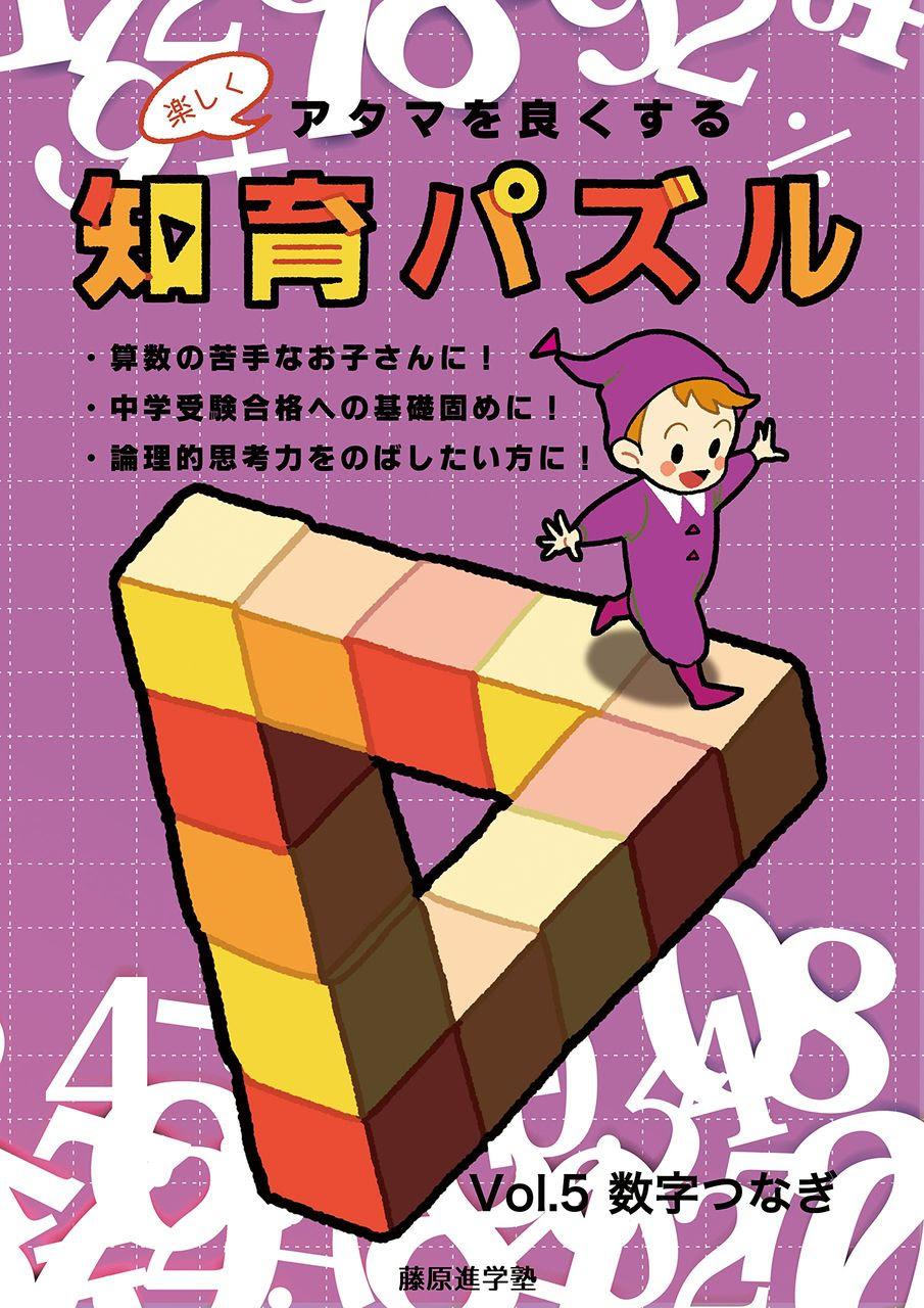 楽しくアタマを良くする知育パズル Vol5 数字つなぎ 電源不要ゲーム