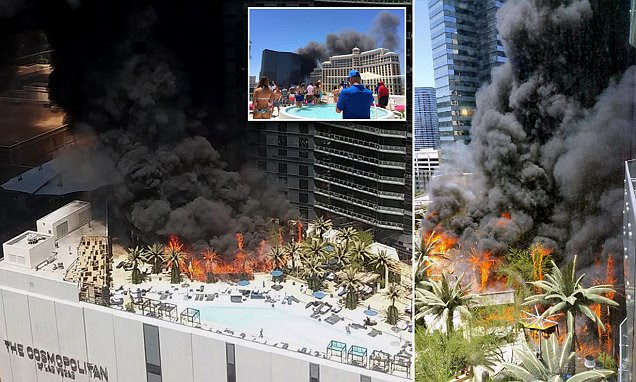 Las Vegas Strip's Cosmopolitan Hotel engulfed in huge fire