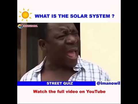 [Hilarious video] What's solar system?