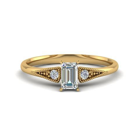 Marquise Cut Small Three Stone Milgrain Engagement Ring