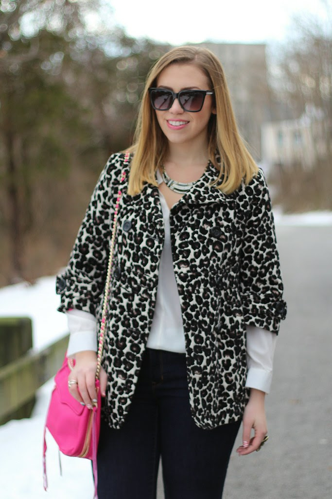 Leopard Coat, Hot Pink Bag, Deco Jewelry : Living After Midnite