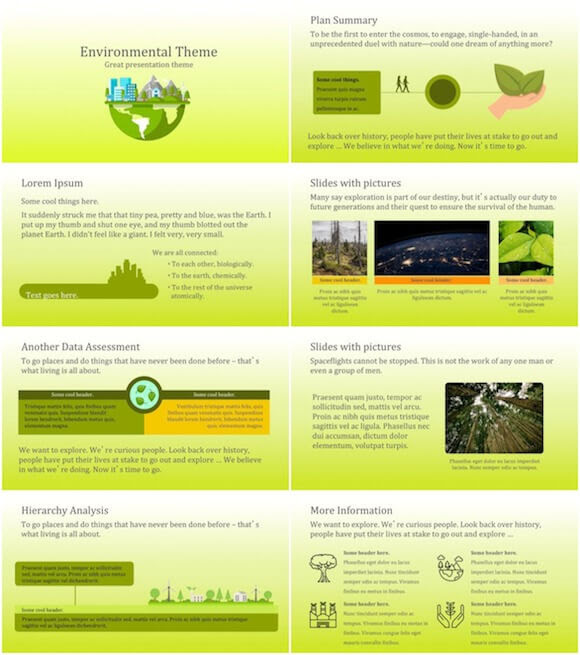 Green Environment Powerpoint Template Free