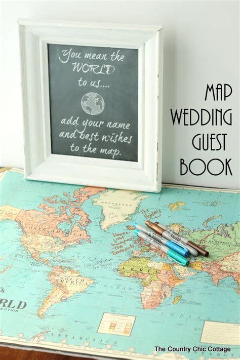 DIY Map Wedding Guest Book   AllFreeDIYWeddings.com