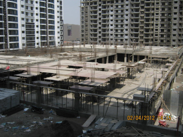 Sparklet - Megapolis Smart Homes 1, Hinjewadi Phase 3, Pune 411057 - under construction podium with 2 level parking