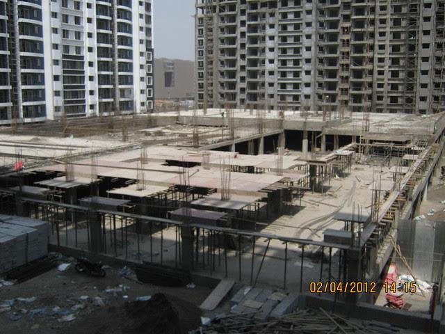 Sparklet - Megapolis Smart Homes 1, Hinjewadi Phase 3, Pune 411057 - under construction podium with 2 level parking