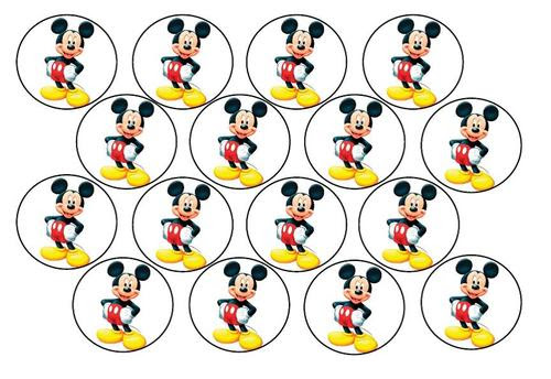 Cake Decorating Mickey Mouse Edible Picture Cupcake Toppers Was