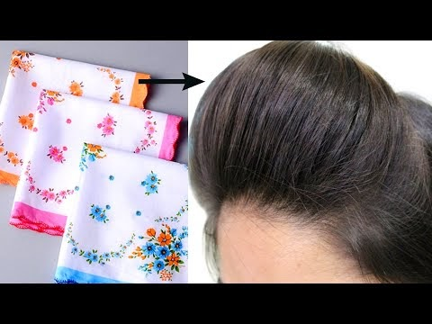 Front Puff Using Hanky For Thin Hair/Diy Bump It or Puff maker