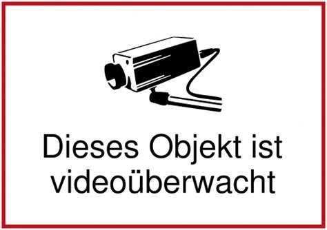 schild selbst drucken objekt ist videoueberwacht