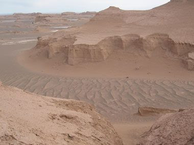 5. Hottest Place on Earth: Lut Desert, Iran