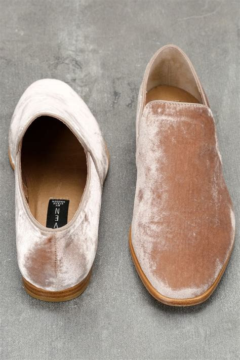 steven  steve madden adrianna blush velvet loafers