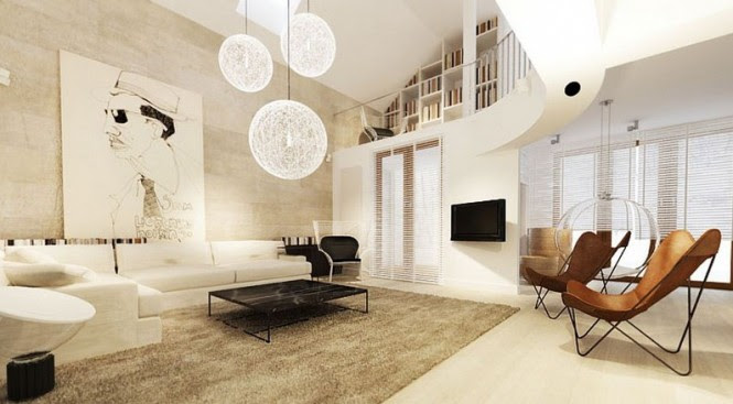 White living room design