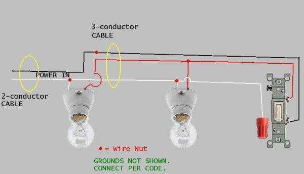 Wiring Diagram 1 Switch 3 Lights Kubota Rtv Engine Diagram Begeboy Wiring Diagram Source