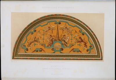 Palazzo ducale lunette decorative design