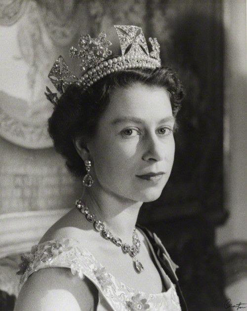 The Queen wearing the royal diadem tiara...my favorite.
