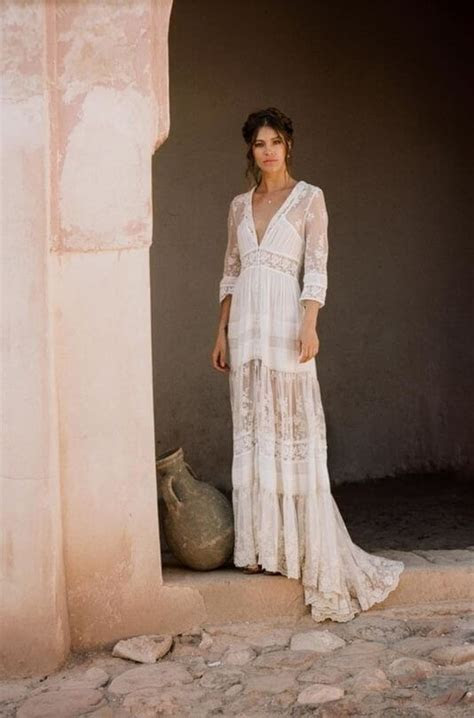 Dreamy bohemian wedding dresses in perfect soft lace with