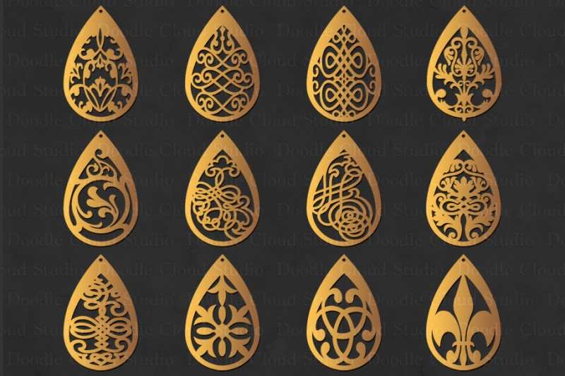 Free Earring Svg Earring Templates Jewelry Pendant Svg Teardrop Crafter File