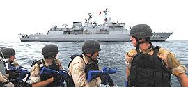 La fregata Uss Taylor, entrata nel Mar Nero