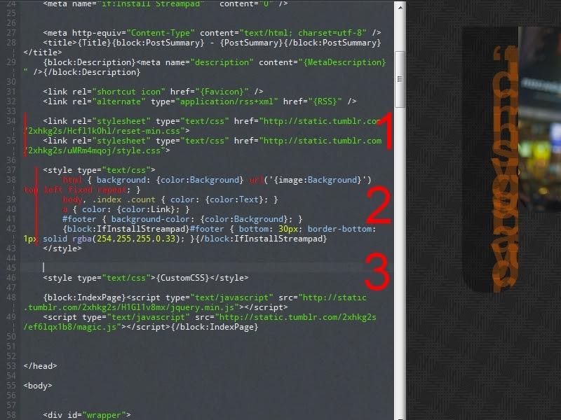 partie style dans le code