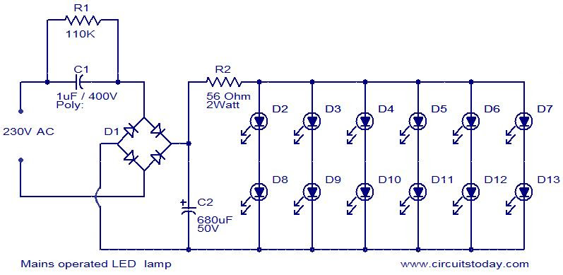 Simple Led Circuit Diagram | Simple Led Light Circuit Circuit Diagram Images