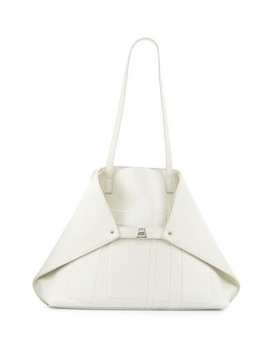 Akris Medium Cervo Leather Shoulder Bag