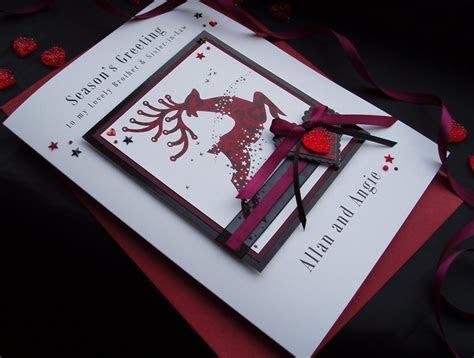 Handmade Christmas Card Reindeer   Handmade Cards  Pink & Posh