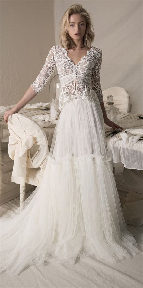 Lihi Hod Danielle lace wedding dress with long sleeves