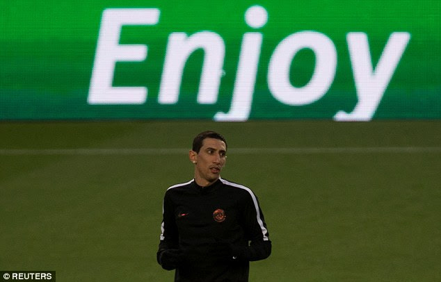 Former Real Madrid forward Angel Di Maria scored during the first-leg at the Parc des Princes