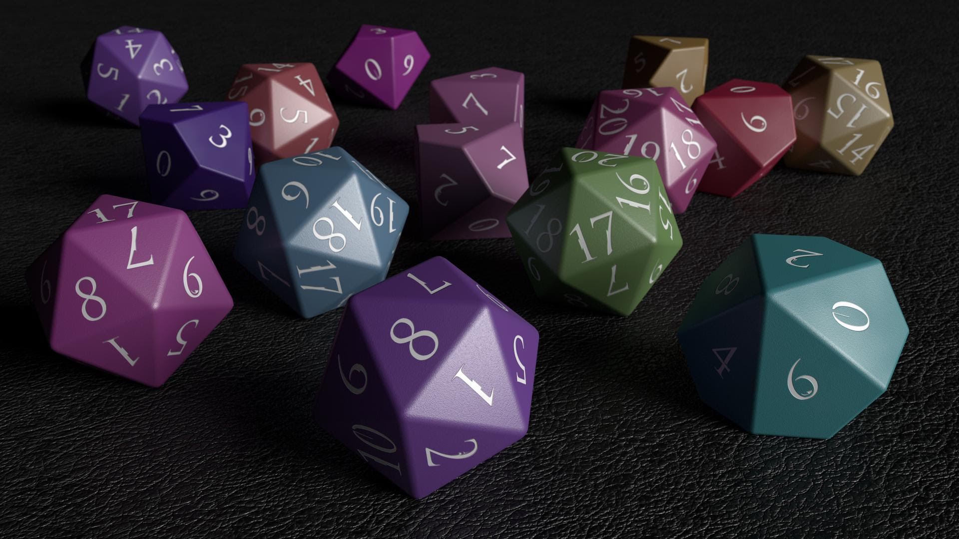 I Made Some Rpg Dice 1920 X 1080 Wallpapers
