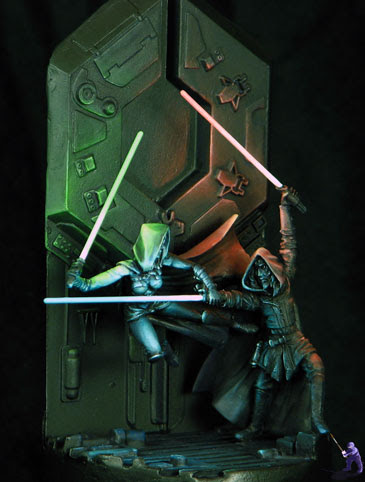 Dueling Jedi from the left