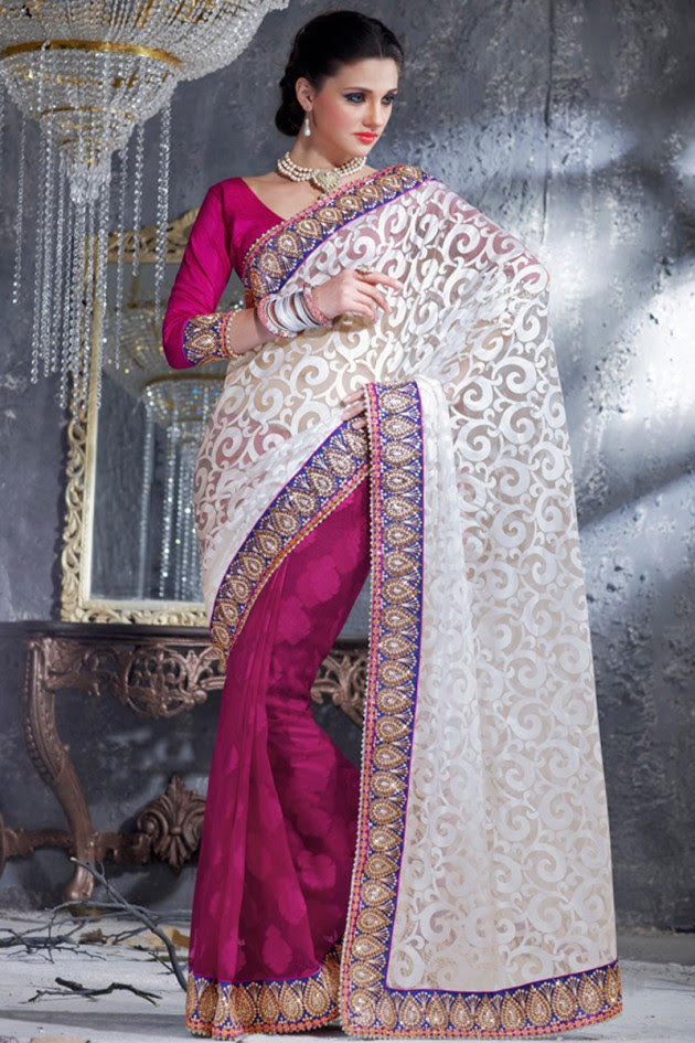 Indian-Brides-Bridal-Wedding-Party-Wear-Embroidered-Saree-Design-New-Fashion-Reception-Sari-20
