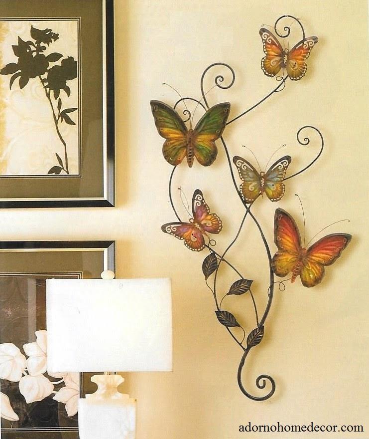 Metal Butterfly Wall Decor Art Garden Cottage Unique ...