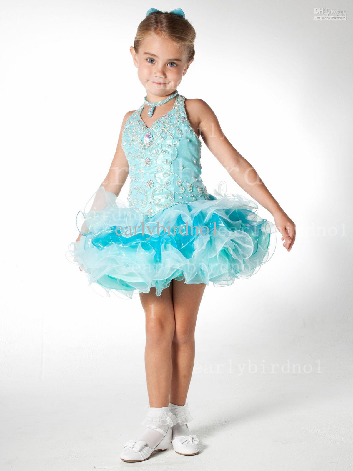 2013 actual image toddler short dress halter