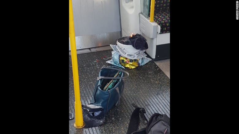Eyewitness Sylvain Pennec took this photo; he described panic as commuters escaped the carriage.