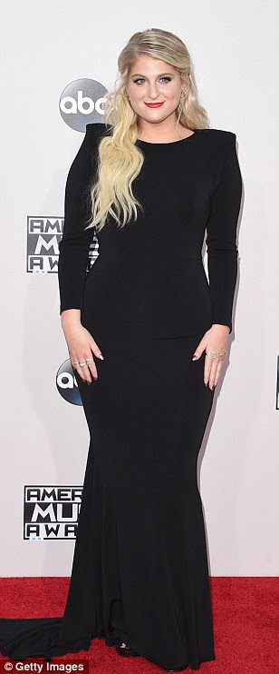 Can't go wrong with black! Recording artists Meghan Trainor,Christina Milian and Rebecca Black opted for simple stylish looks