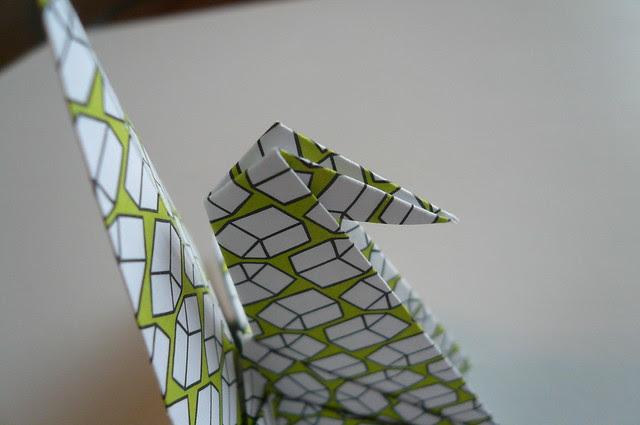 Origami Crane Place Card Holder