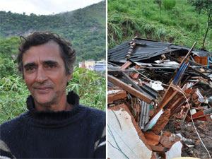 Ex-marido de Ilair, Moisés da Costa, perdeu casa após desabamento (Foto: Reginaldo Gonçalves/ Arquivo pessoal)