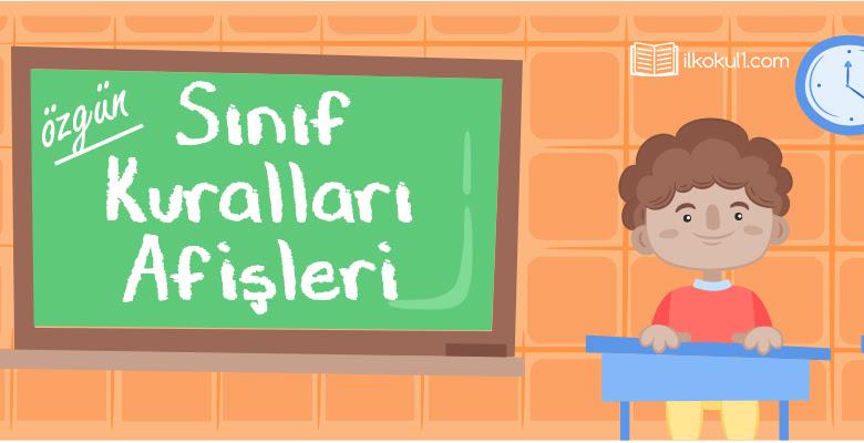 Sınıf Kuralları Afişleri Sınıf öğretmenleri Için ücretsiz özgün