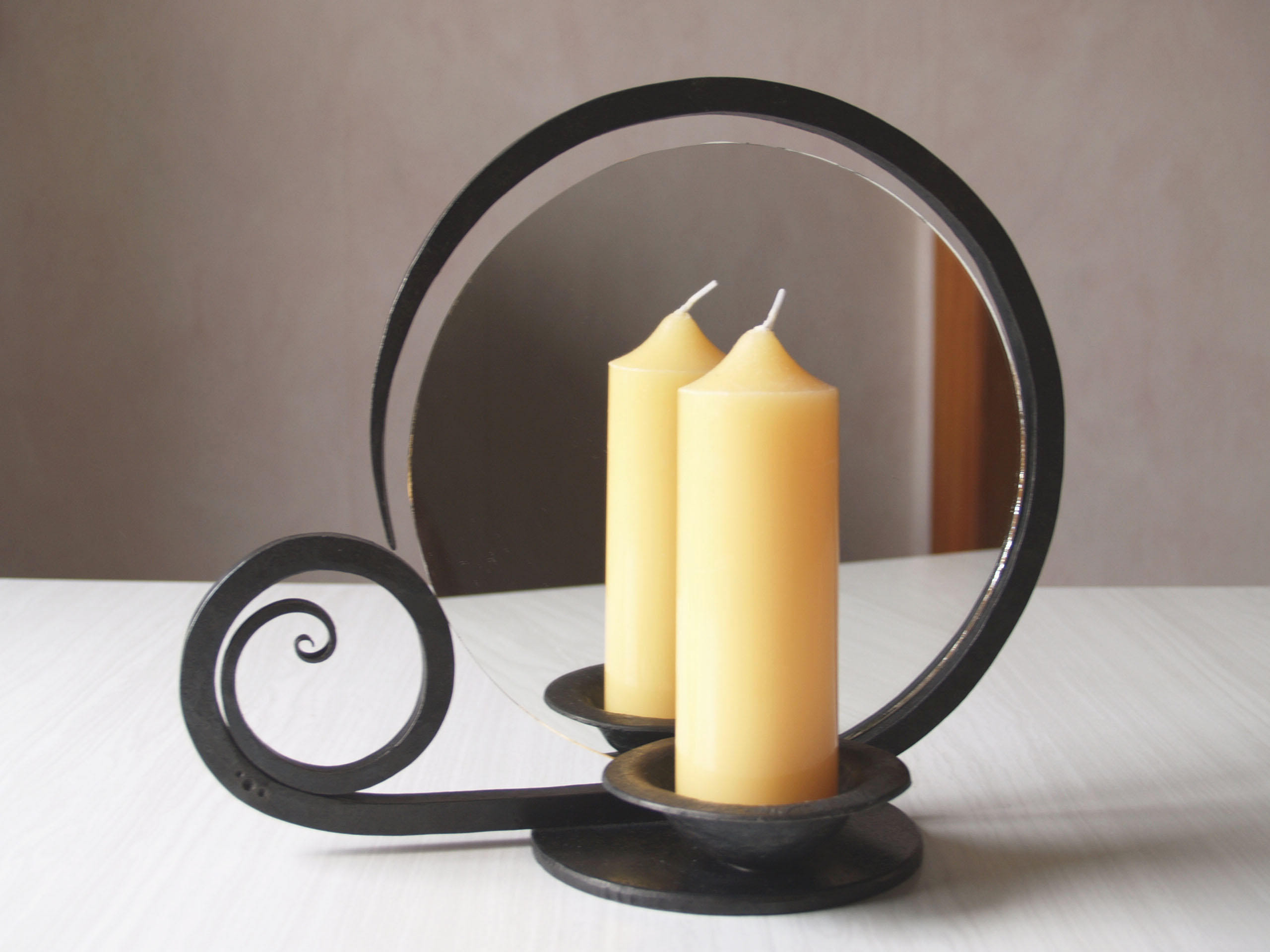 Candle holder with mirror by 3threesuns on DeviantArt