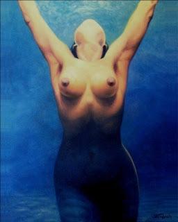 """Bruno Steinbach. """"Lala (in memoriam)"""" .   Óleo/tela, 100x80 cm, 2004, João Pessoa, Paraíba, Brasil. Acervo do Artista, João Pessoa, Paraíba, Brasil."""