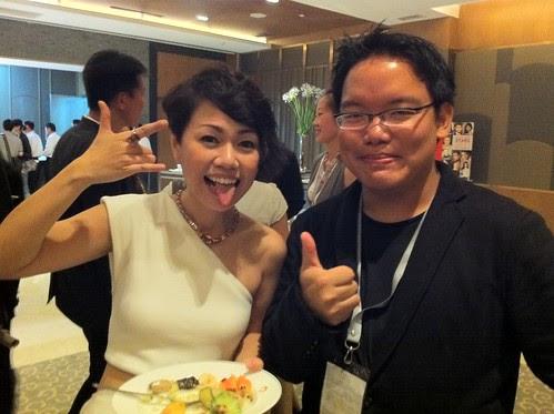 With Singaporean singer/actress Joanna Dong