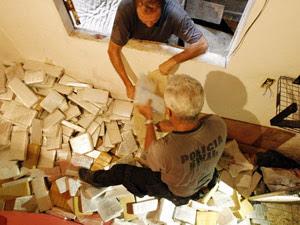 Operação Rocinha - drogas (Foto: Fernando Queveo / Agência O Globo)