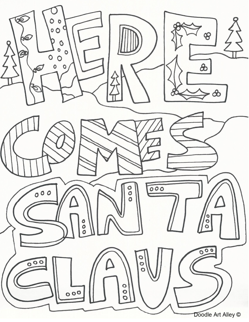 Download and Print FREE Christmas Colouring Pages