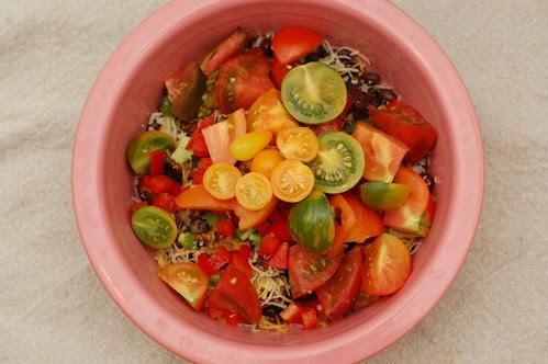 fresh tomatoes for dinner