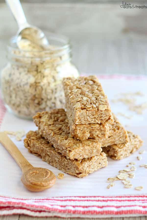 Peanut Butter Honey No Bake Granola Bars - Julie's Eats ...