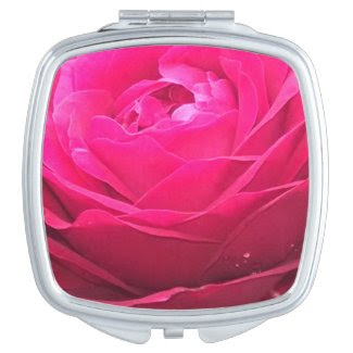 Lincoln Red Rose Vanity Mirror