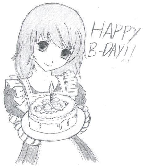 happy birthday anime drawing google search happybday