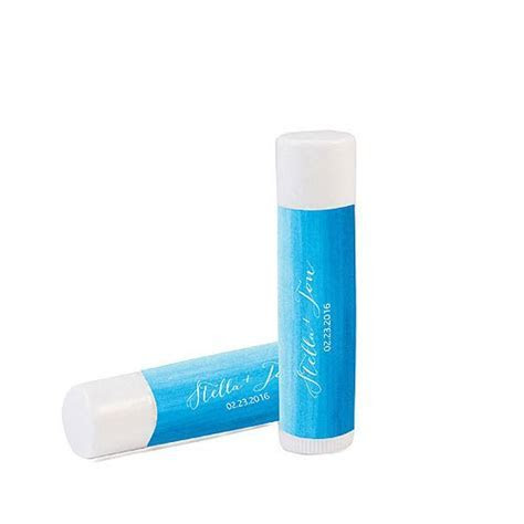 """Aqueous"" Personalized Lip Balm   Weddingstar"