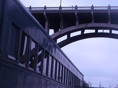 rambler, bridge, reflection