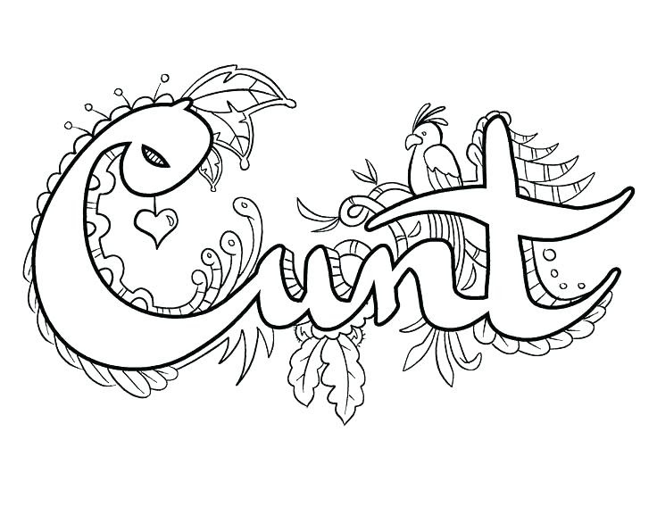 Cuss Word Coloring Pages - Carinewbi