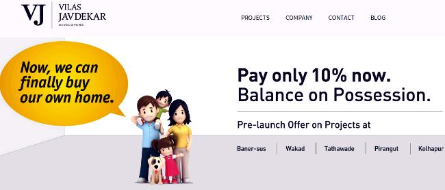 Pay only 10 per cent now, Balance on Possession - Vilas Javdekar Developers' Offer